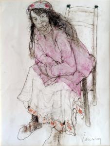 Adelita In A Pink Vest, 1995