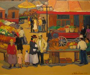 Market Scene In Ottawa