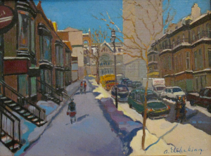 Winter Landscape On Crescent Street