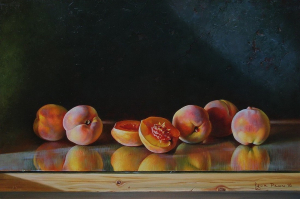 Still-life with Peaches, 2018