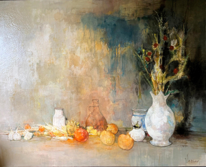 Still-life with white pot  , 1967