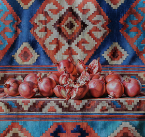 Pomegranates on the carpet, 2020