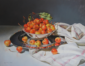 Still life with cherries, 2020