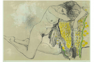 Sonia with Yellow Shawl, 1995