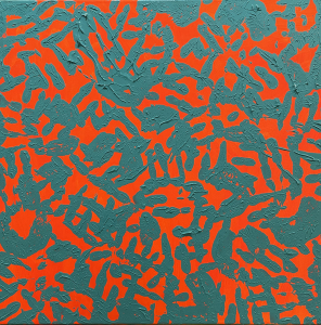 Trace canvases series, (orange and blue) ,2020